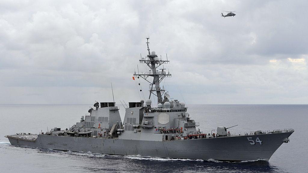 El destructor de EEUU 'USS Curtis Wilbur'