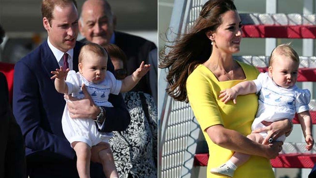 Los duques de Cambridge y su hijo en Sydney