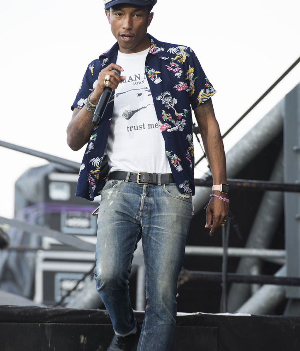 Pharrell Williams durante una de sus actuaciones