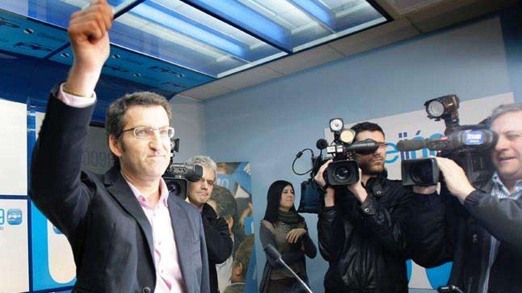 Núñez Feijóo celebra su victoria en las elecciones autonómicas gallegas