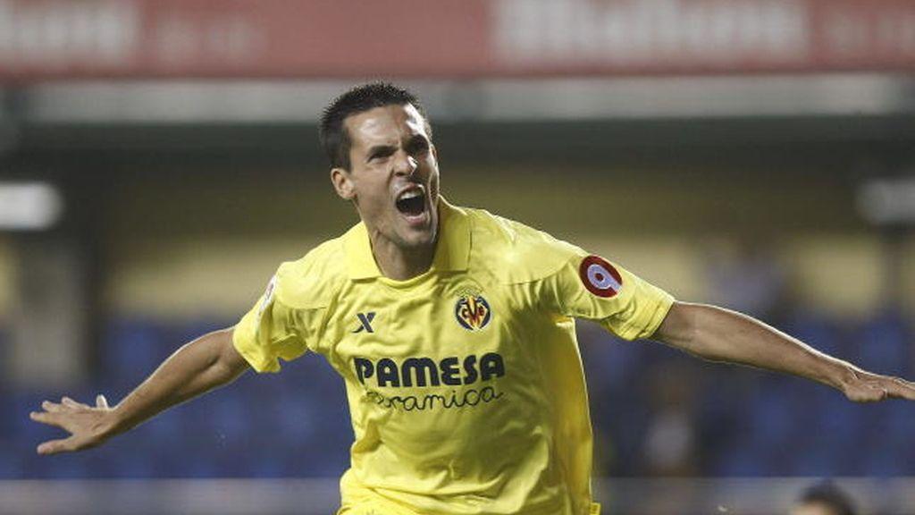 Perbet celebra tras marcar ante el Espanyol