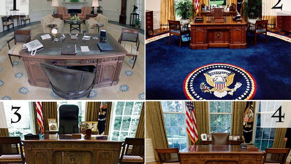 Obama redecora el Despacho Oval