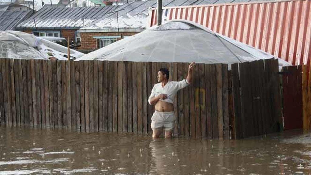 Inundaciones en Mongolia