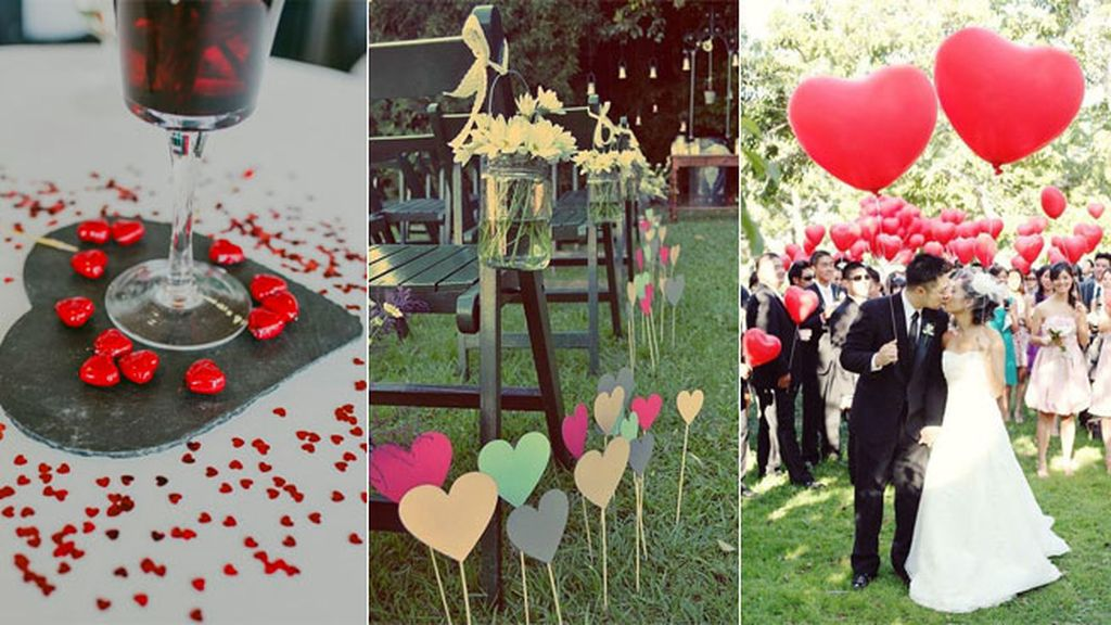 Diez cosas que no quiero en mi boda  - corazones