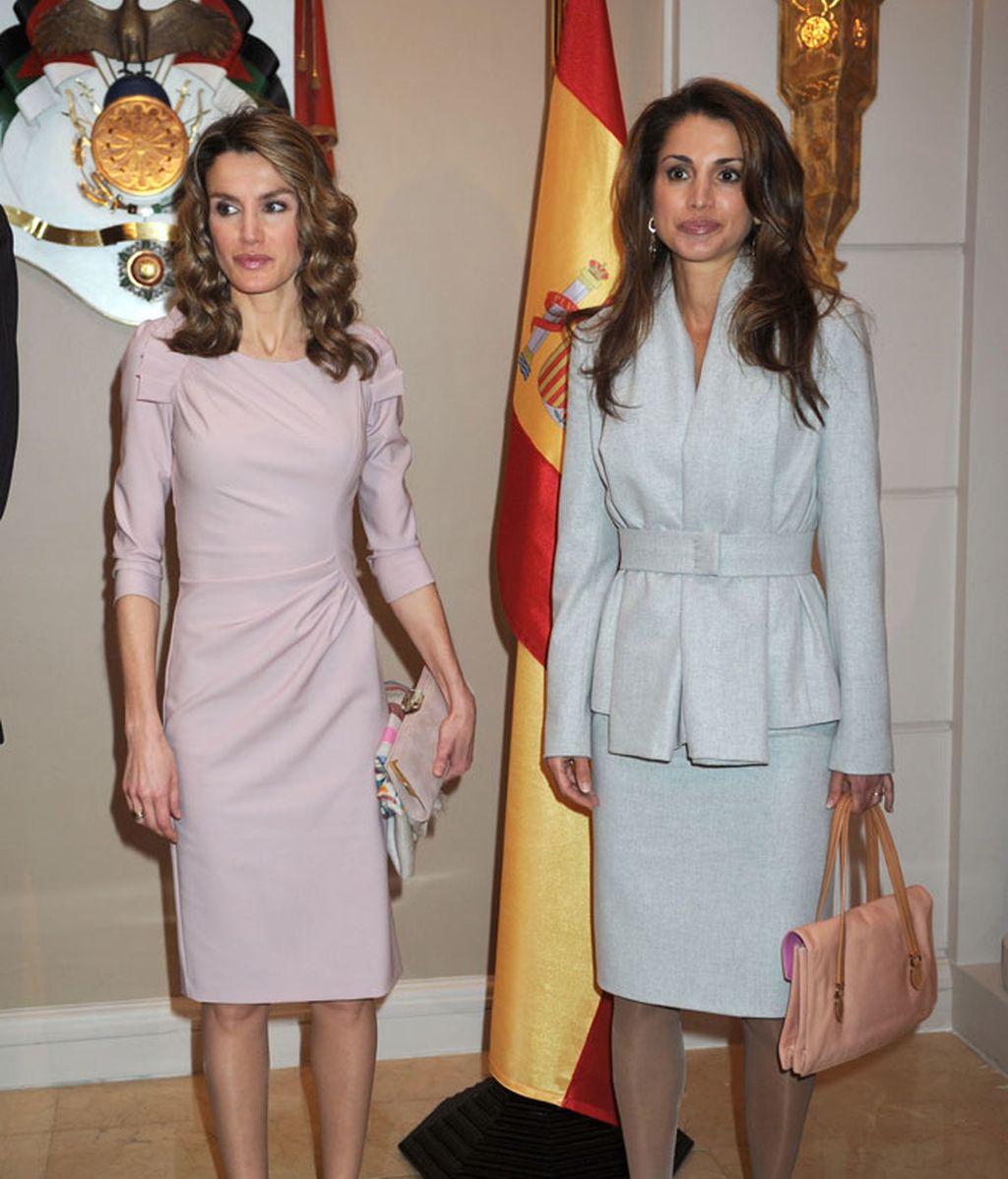 Las fotos del encuentro de Letizia y Rania