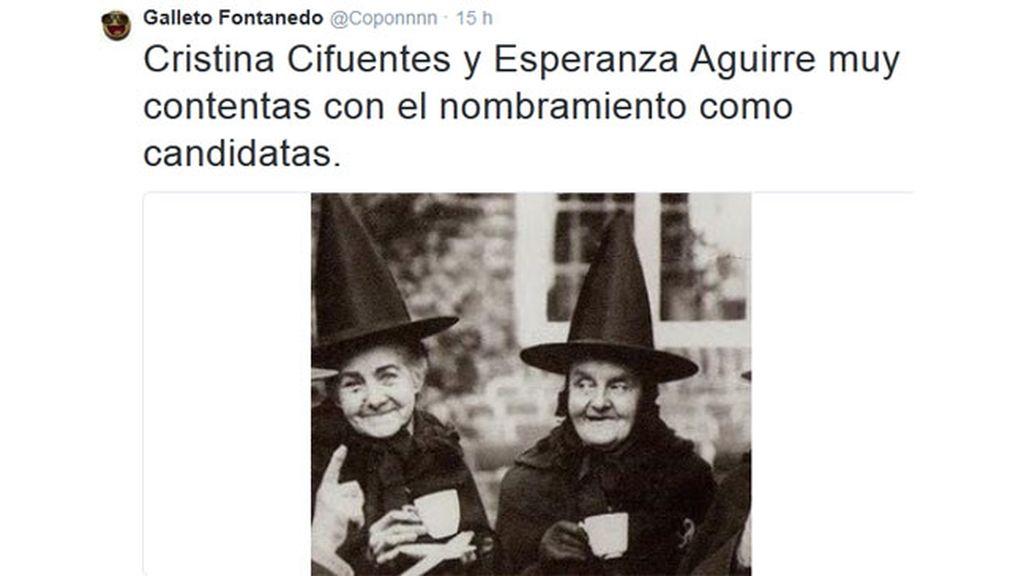 Twitter se llena de memes tras conocer las candidaturas de Cifuentes y Aguirre