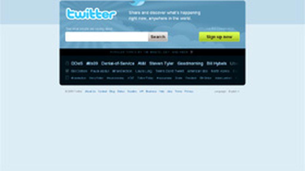 El portal Twitter