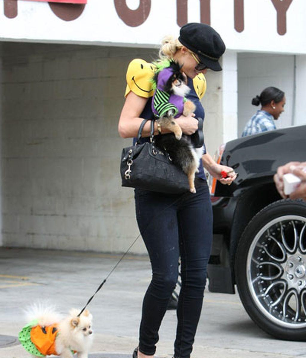 Del perro depresivo de Jennifer Aniston a las sonrientes mascotas de Paris Hilton