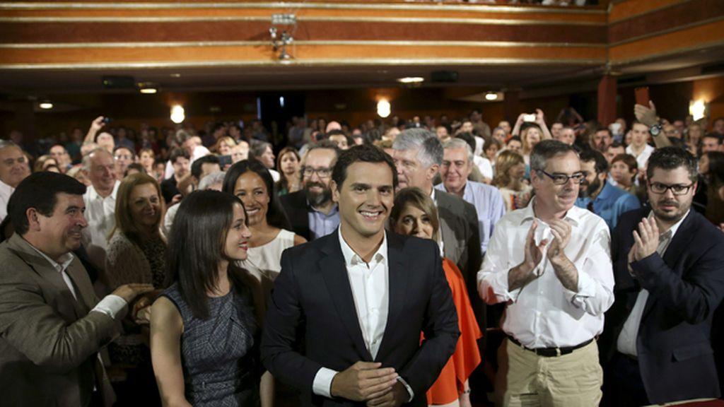 Albert Rivera, durante su presentación como candidato al Gobierno