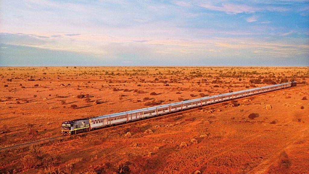 El Ghan, un tren de más de un kilómetro de longitud
