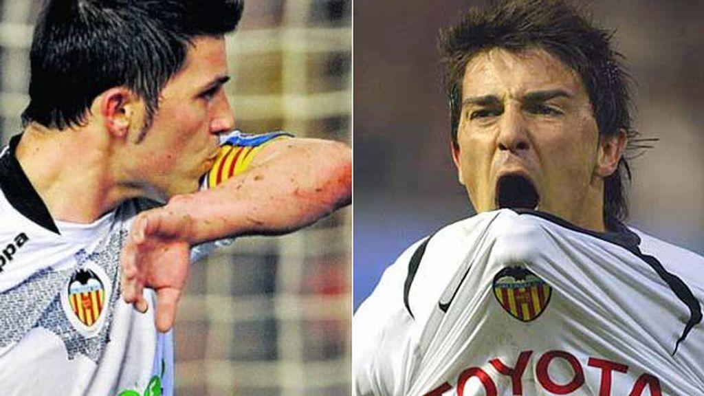 David Villa,Valencia,Gary Neville