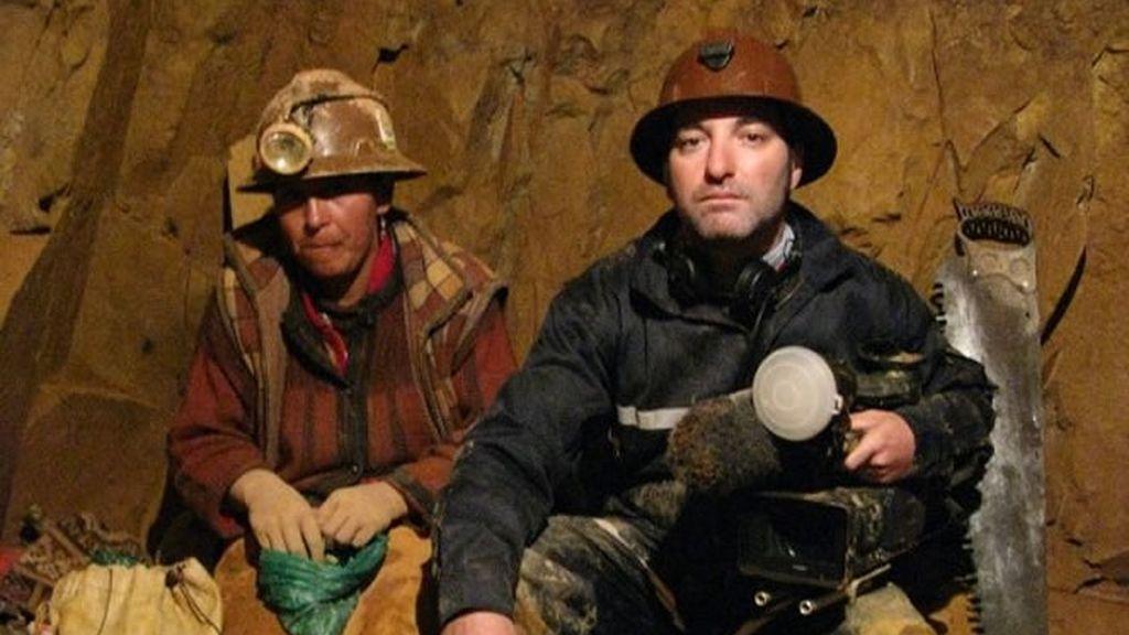 El cámara en la mina