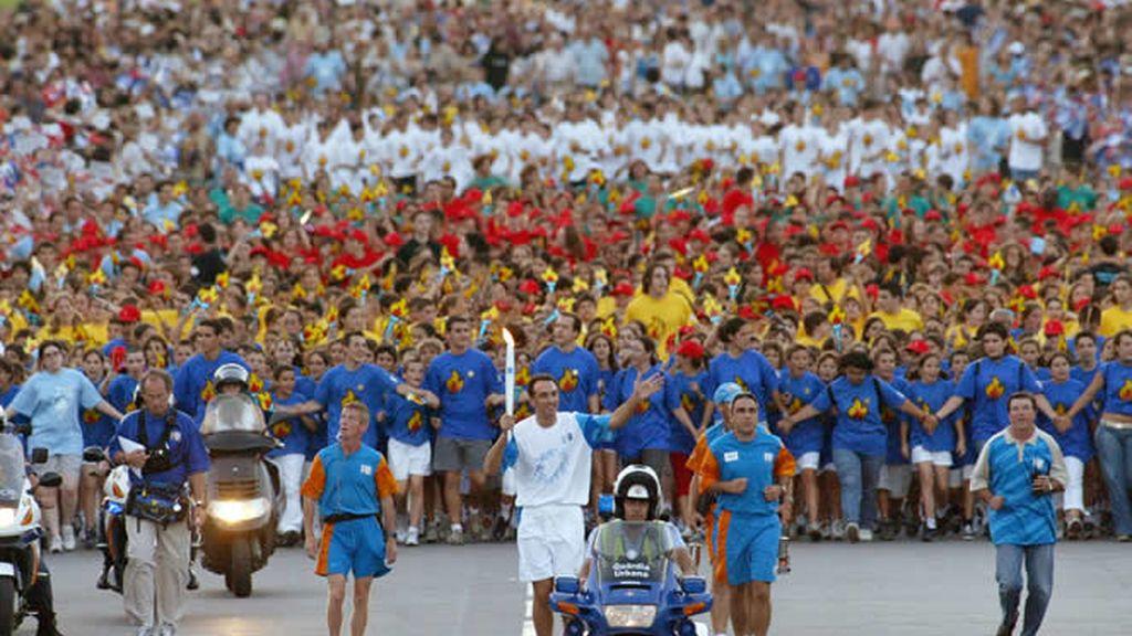 La llama Olímpica en Barcelona'92