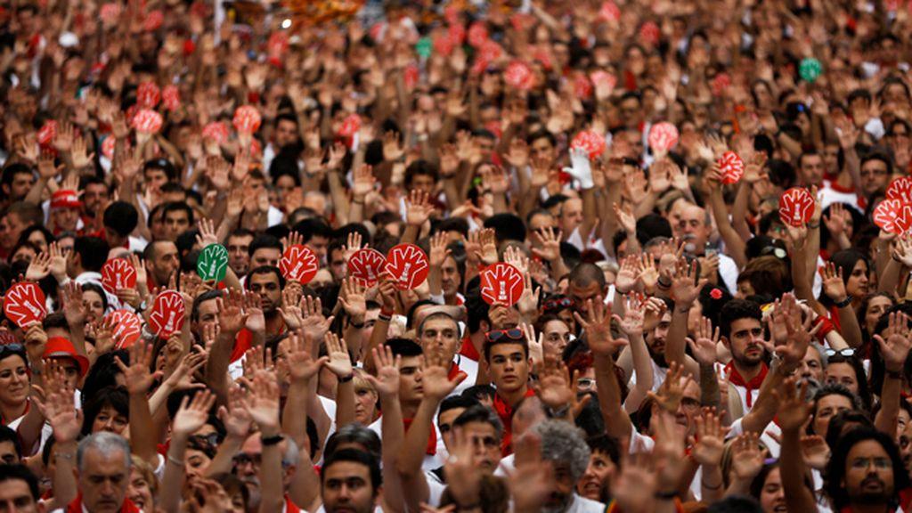 Manifestación en Pamplona contra las agresiones sexuales