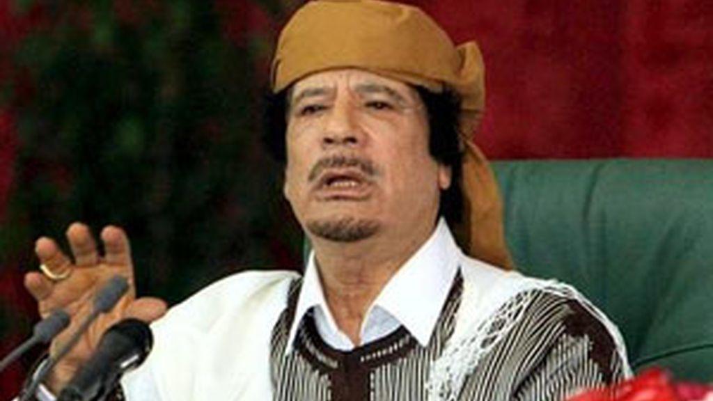"""""""¿Por qué nos están atacando?"""", se pregunta el líder libio. Foto. EFE"""