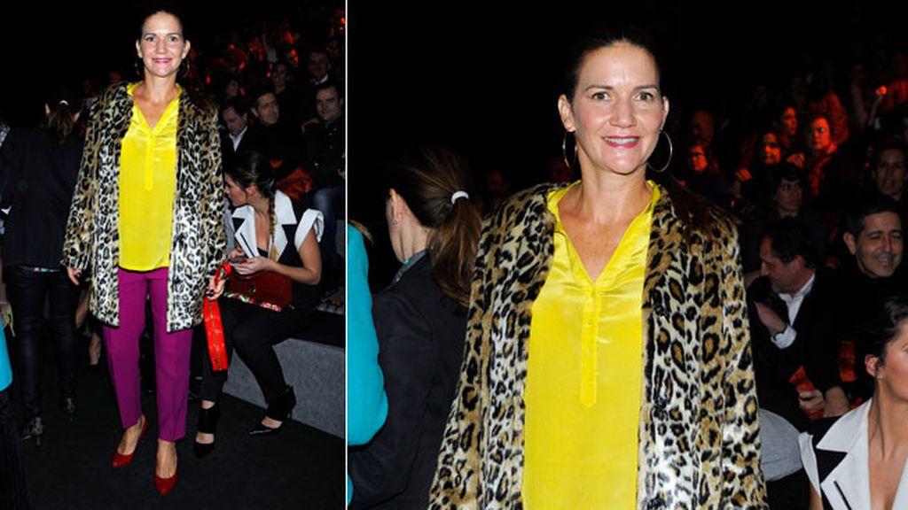 Samantha Vellejo Nájera en el desfile de Desigual