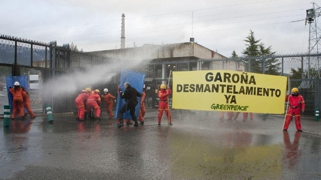 Protesta de Geernpeace en Garoña