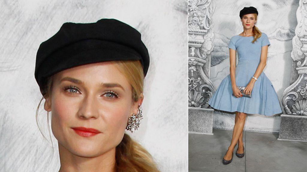 Ladylike rompedor: Diane Kruger sí sabe combinar los ear cuff
