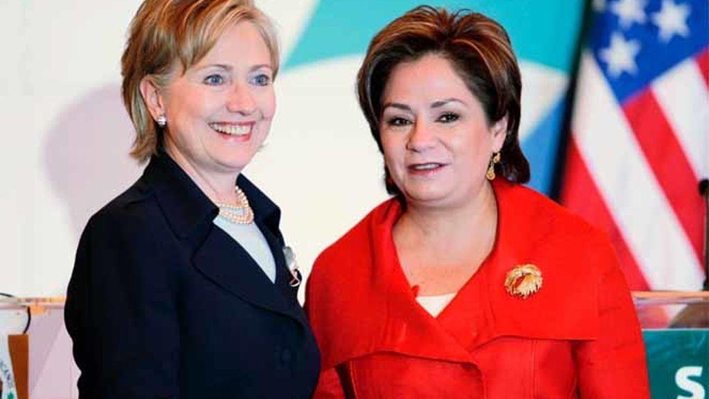 Hillary Clinton y Patricia Espinosa