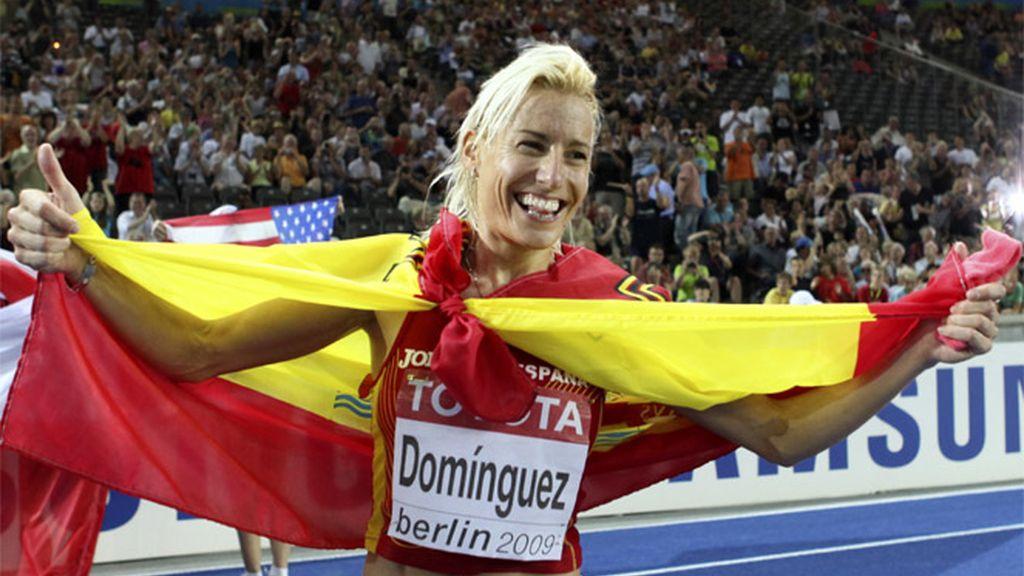 Marta Domínguez conquista la medalla de oro en los 3.000 metros obstáculos