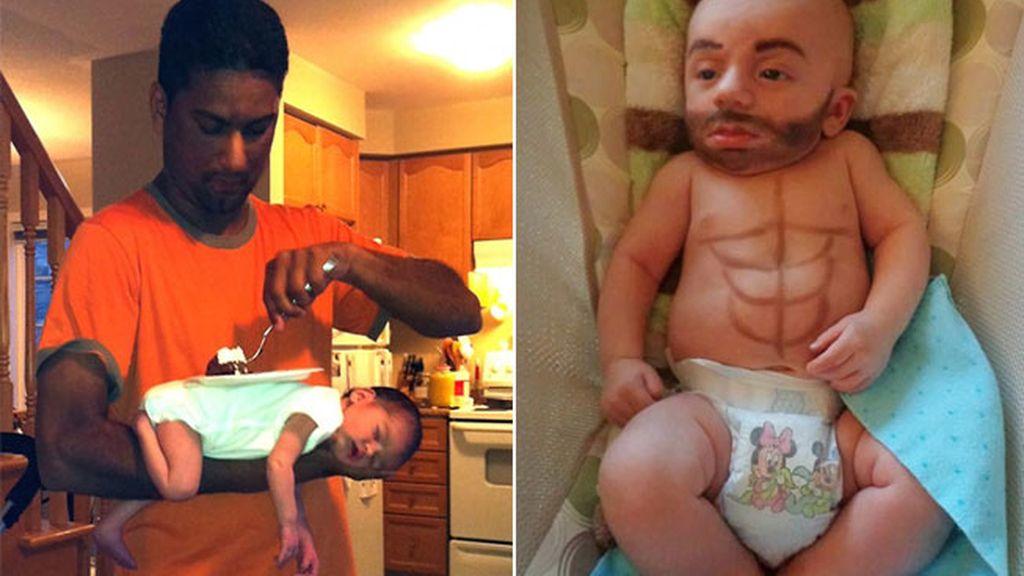 Las imágenes muestran a muchos niños con la cara pintada o disfrazados