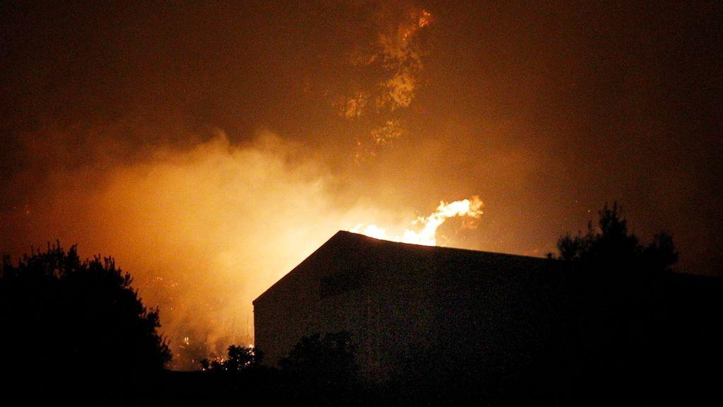 Un incendio en Gilet