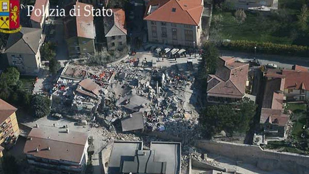 Centro histórico destrozado
