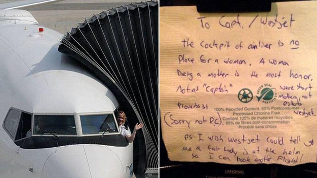 Una piloto discriminada por ser mujer