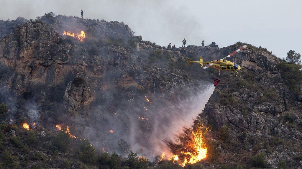Estabilizado el incendio de la Sierra del Molino con 250 hectáreas de superficie quemada