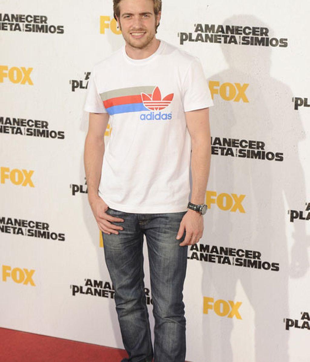 El actor Raúl Mérida fue uno de los asistentes al estreno