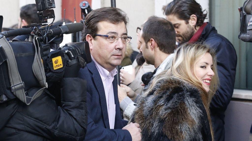 Fernández Vara llega al Comité Federal del PSOE