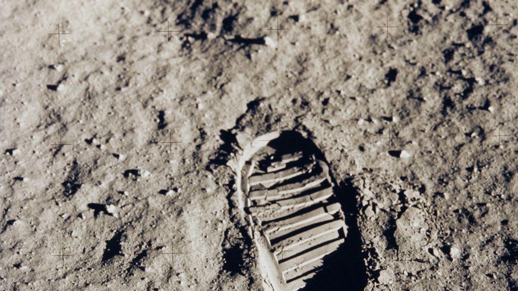 La huella del primer hombre que pisó la Luna cumple hoy 46 años