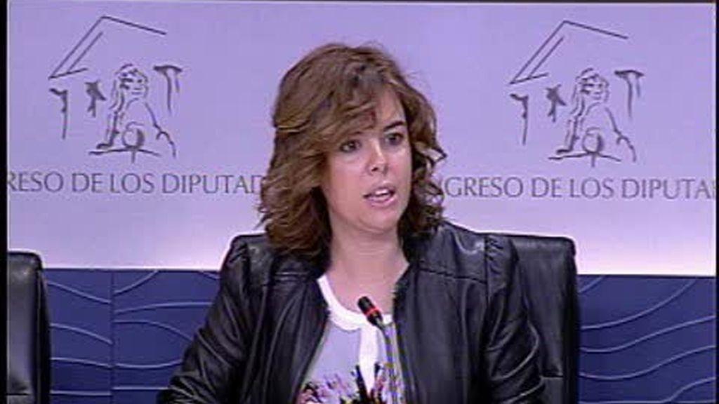 Soraya Sáenz de Santamaría y los conejos