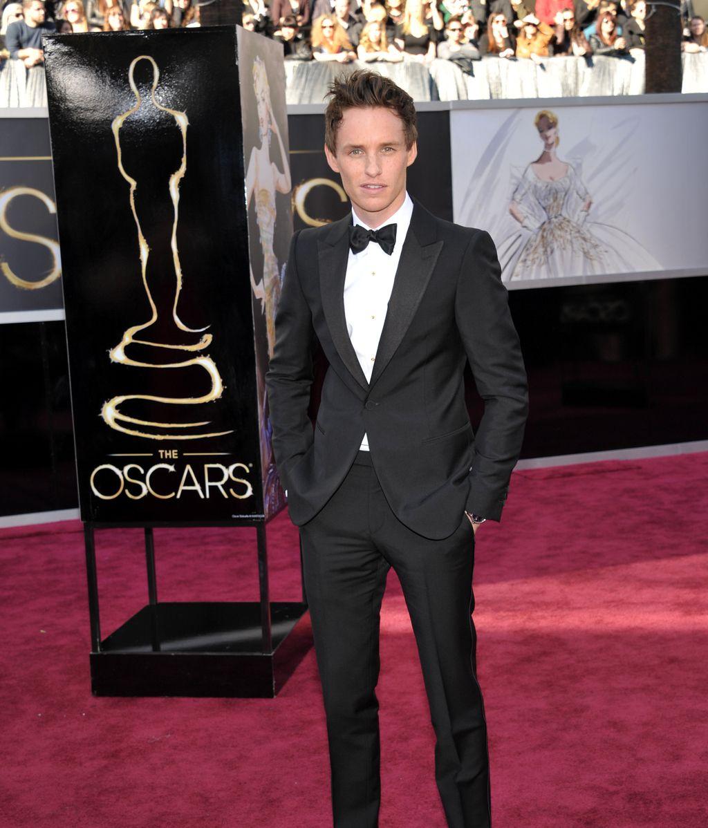 Eddie Redmayne, en la alfombra roja de los Oscar