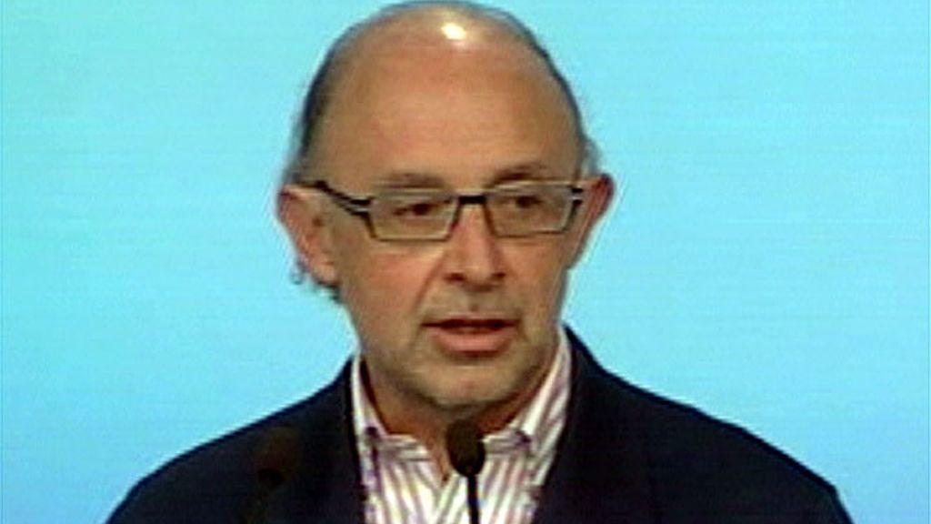 Cristobal Montoro, portavoz económico del PP