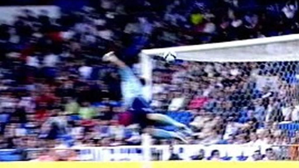 Santana y su gol de la chistera en el Bernabéu