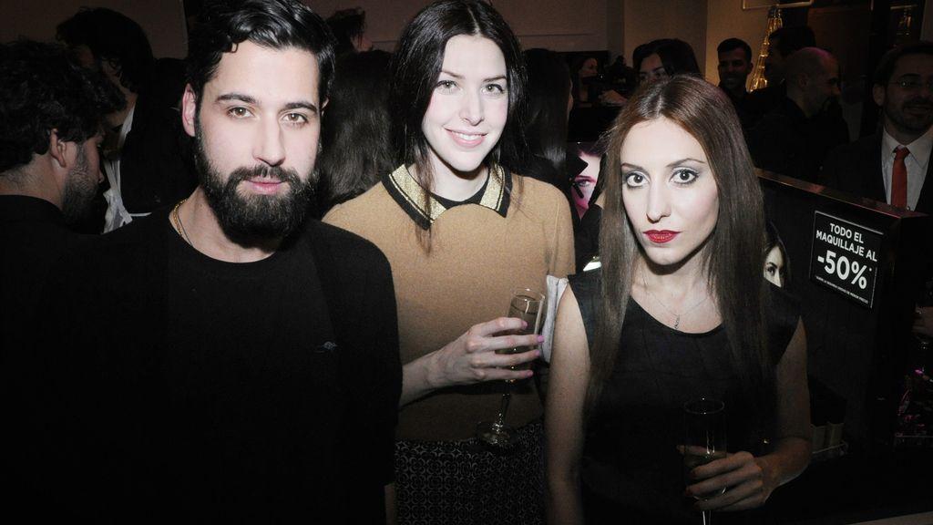 Moisés Nieto, Brianda Fitz-James y Elena Gallen