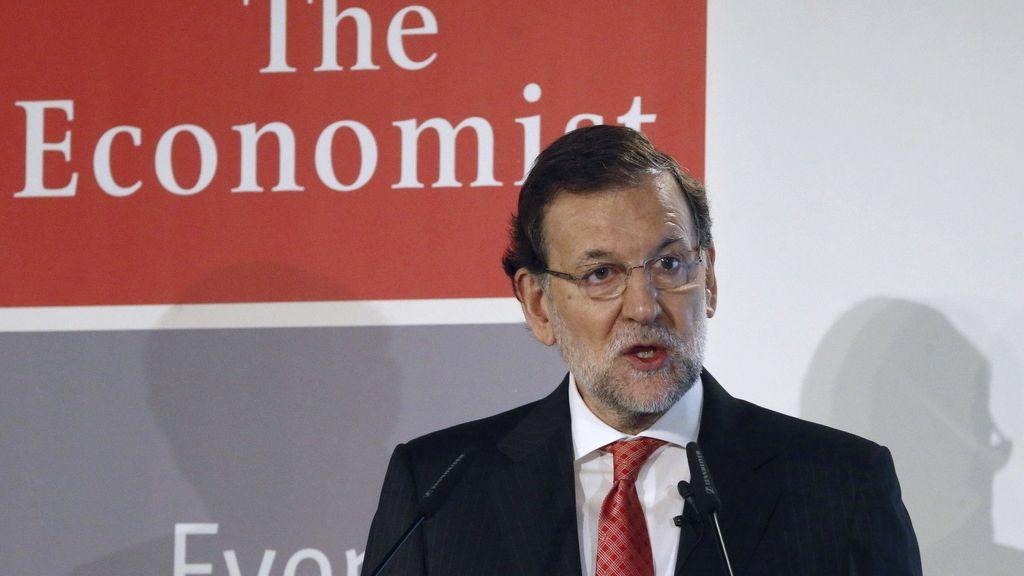 Rajoy durante el foro organizado por The Economist