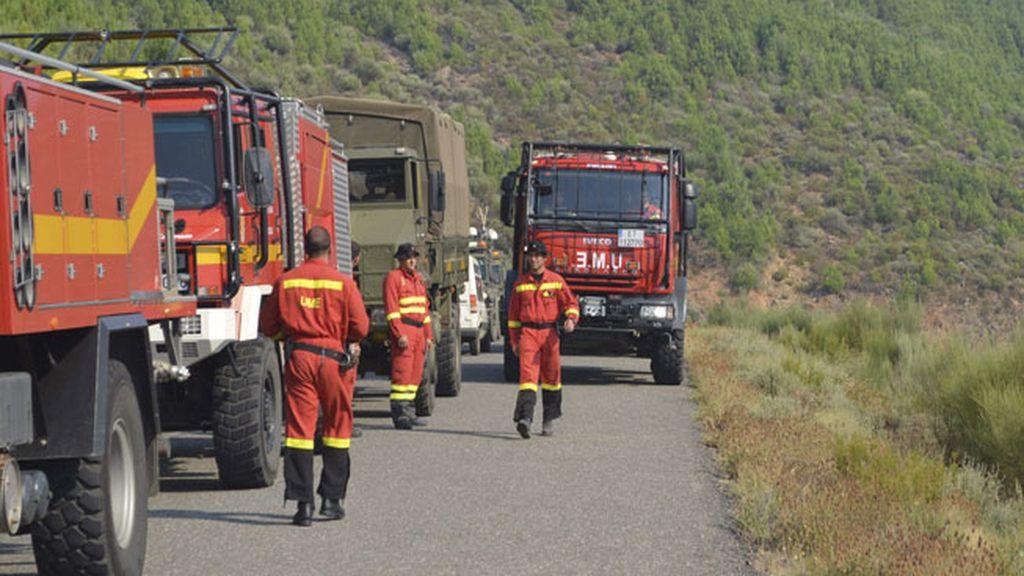 Incendio en Gata, Cáceres
