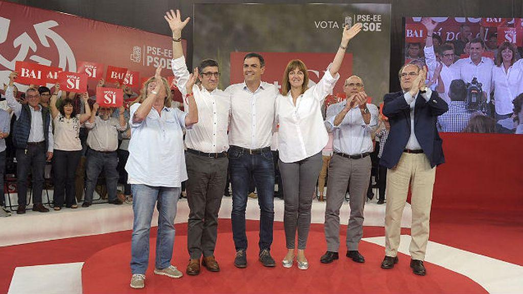 Pedro Sánchez en campaña electoral
