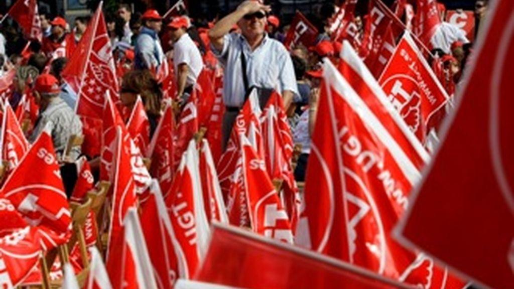 Los sindicatos se movilizan en toda España para protestar por la nueva Ley de Cajas de Ahorro