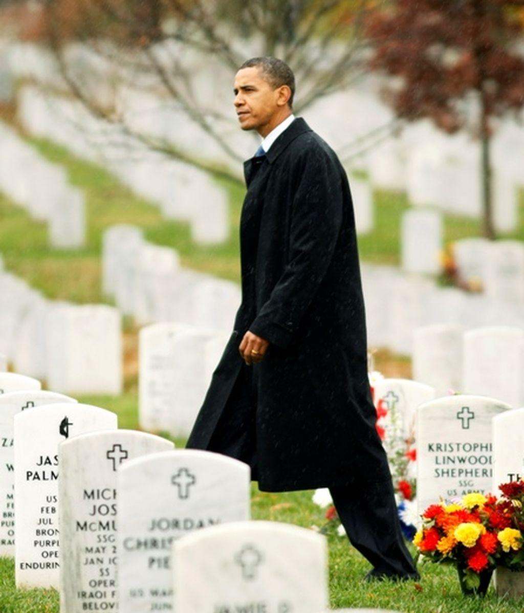 Barack Obama conmemorando el Día de los Veteranos de guerra