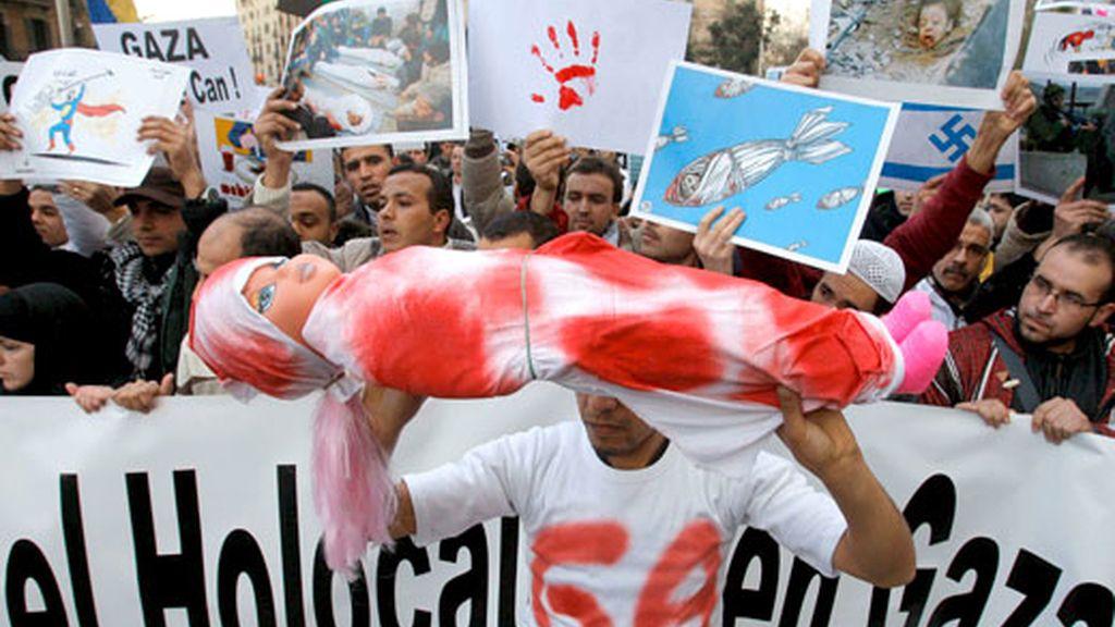 Protestas contra la ofensiva israelí en Gaza en España y el mundo