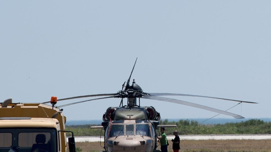 Helicóptero turco en Grecia