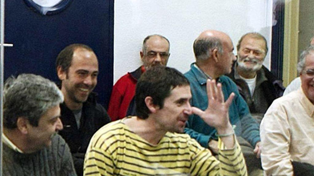 Miembros del entorno de ETA durante el juicio