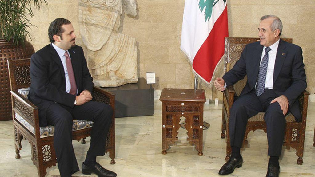 Saad Hariri y Michel Suleiman, primer ministro y presidente de Líbano respectivamente