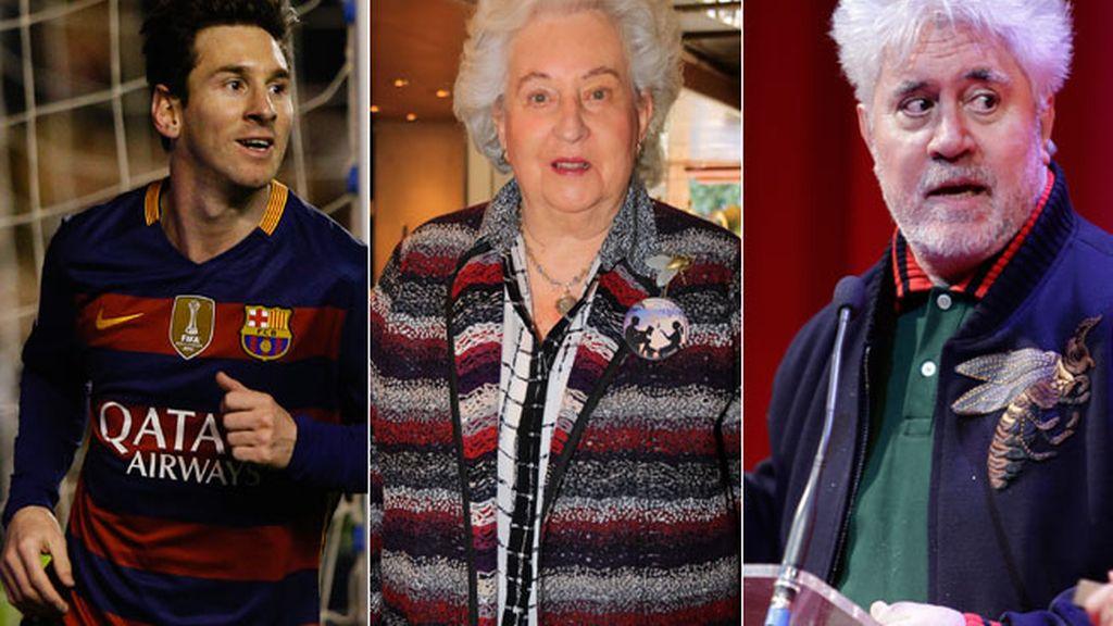 Leo Messi, Pilar de Borbón y Pedro Almodóvar