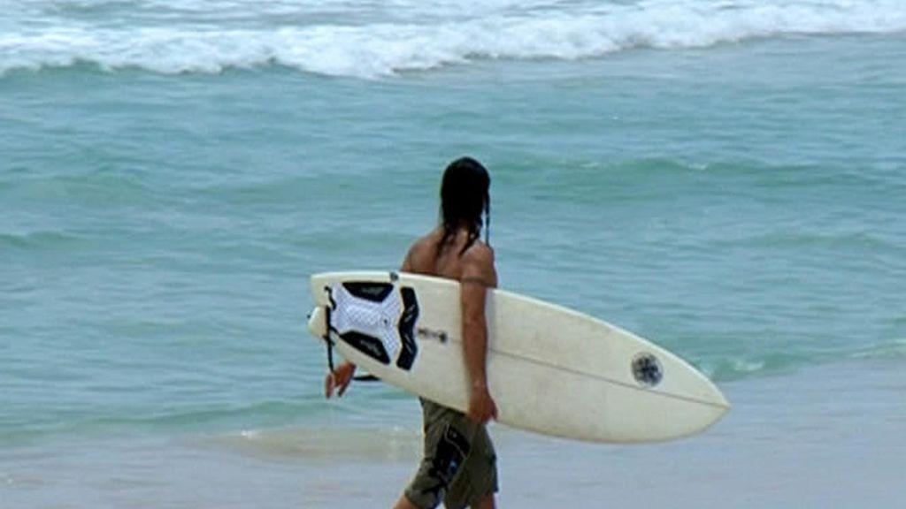 Sol, playa y olas en Miami