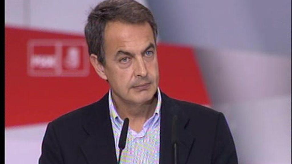 Zapatero defiende su programa de gobierno