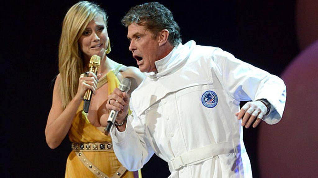 Heidi Klum bromea con David Hasselhoff